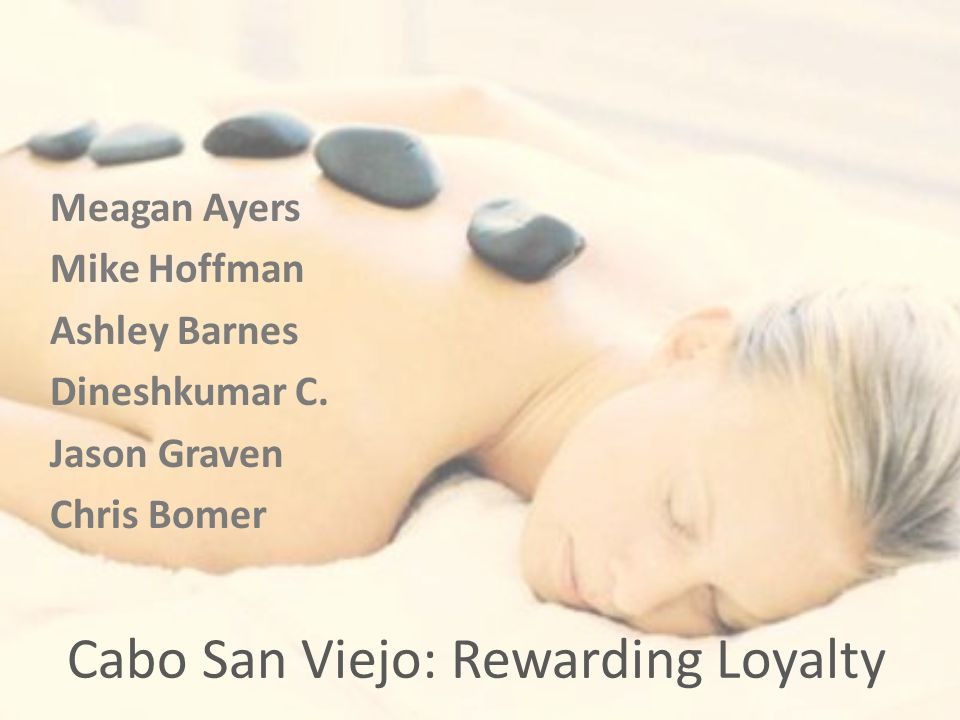 Cabo San Viejo: Rewarding Loyalty Meagan Ayers Mike Hoffman Ashley Barnes Dineshkumar C.