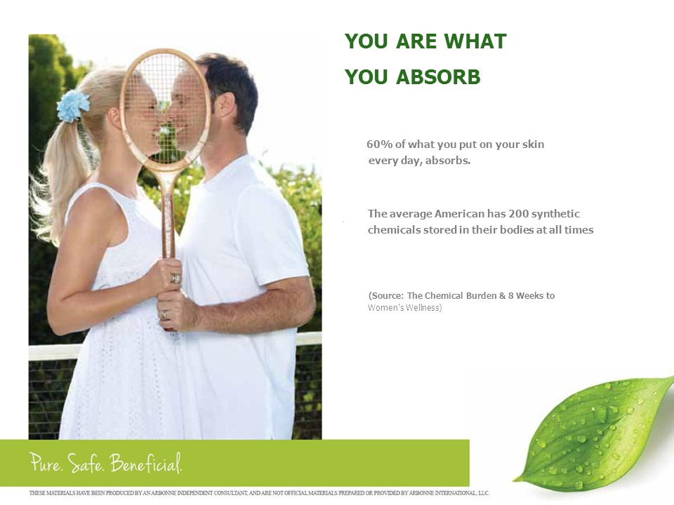 THE ARBONNE ADVANTAGE  33 Years of Research and Development  Botanically Based  Certified Vegan  Formulated without Gluten  Dairy & Whey Free  Standardized Botanicals and Herbs  GMO Screening  No Cholesterol, Saturated Fats, or Trans Fats  No Artificial Colors, Sweeteners, or Dyes  Never Tested on Animals  Free of Animal Products or By- Products  Free of Petroleum Ingredients  Free of Toxic Ingredients