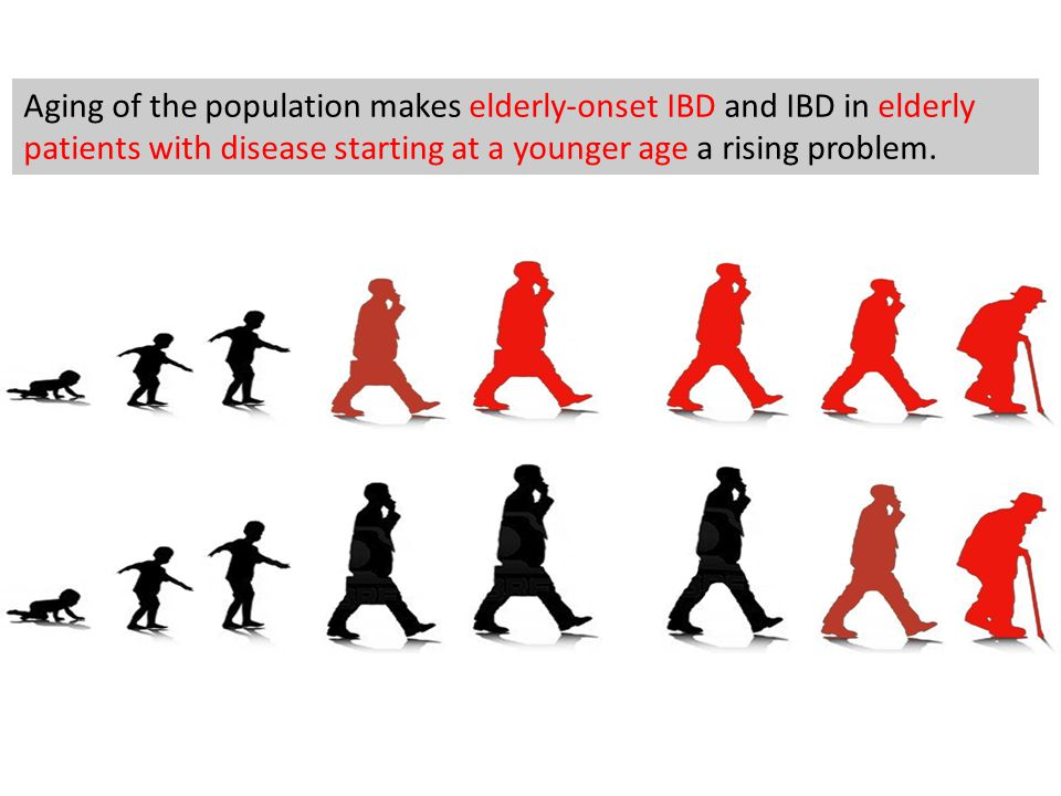 Aging of the population makes elderly-onset IBD and IBD in elderly patients with disease starting at a younger age a rising problem.