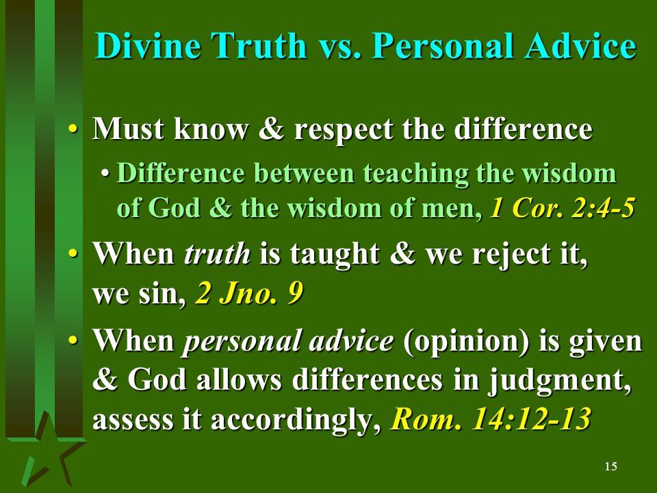 15 Divine Truth vs.