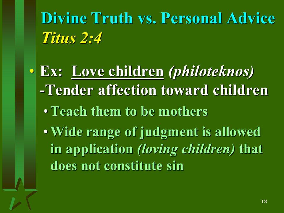 18 Divine Truth vs.