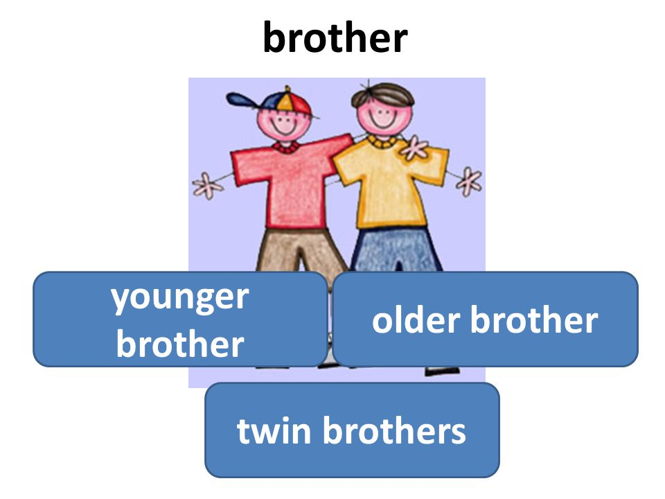 brother younger brother older brother twin brothers