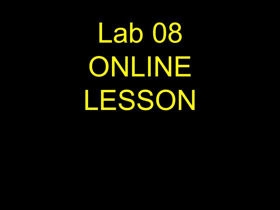 1 Lab 08 ONLINE LESSON