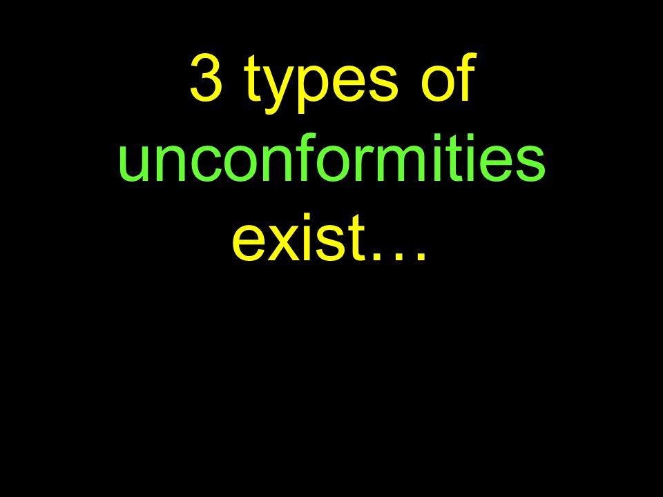 34 3 types of unconformities exist…