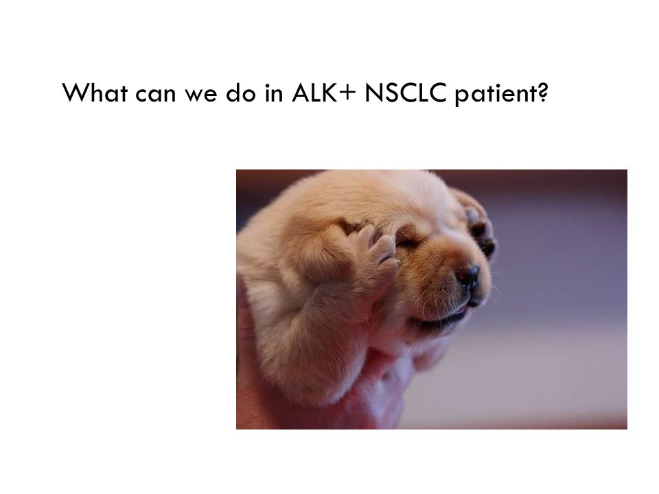 What can we do in ALK+ NSCLC patient?