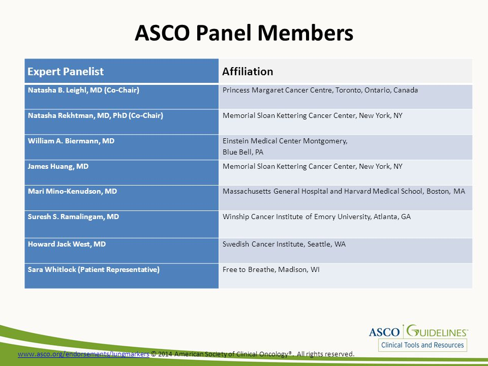 www.asco.org/endorsements/lungmarkerswww.asco.org/endorsements/lungmarkers © 2014 American Society of Clinical Oncology®.