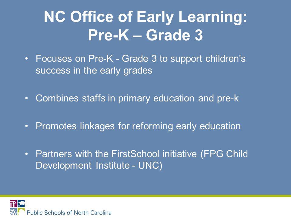Resources NC Title I Preschool Consultant: Carla Garrett @ carla.garrett@ncpublicschools.gov; cell: 336.504.2037 NC Office of Early Learning (Department of Public Instruction) Website: www.ncprek.nc.gov