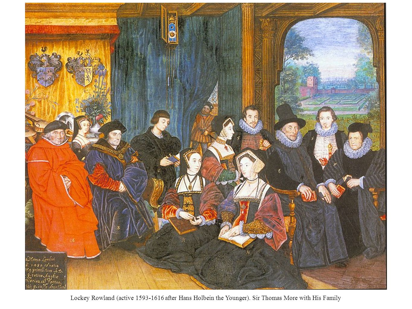 Lockey Rowland (active 1593-1616 after Hans Holbein the Younger). Sir Thomas More with His Family