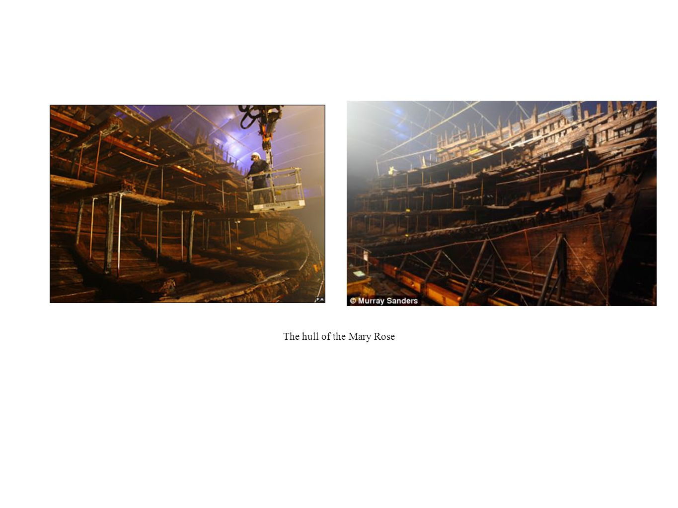 The hull of the Mary Rose