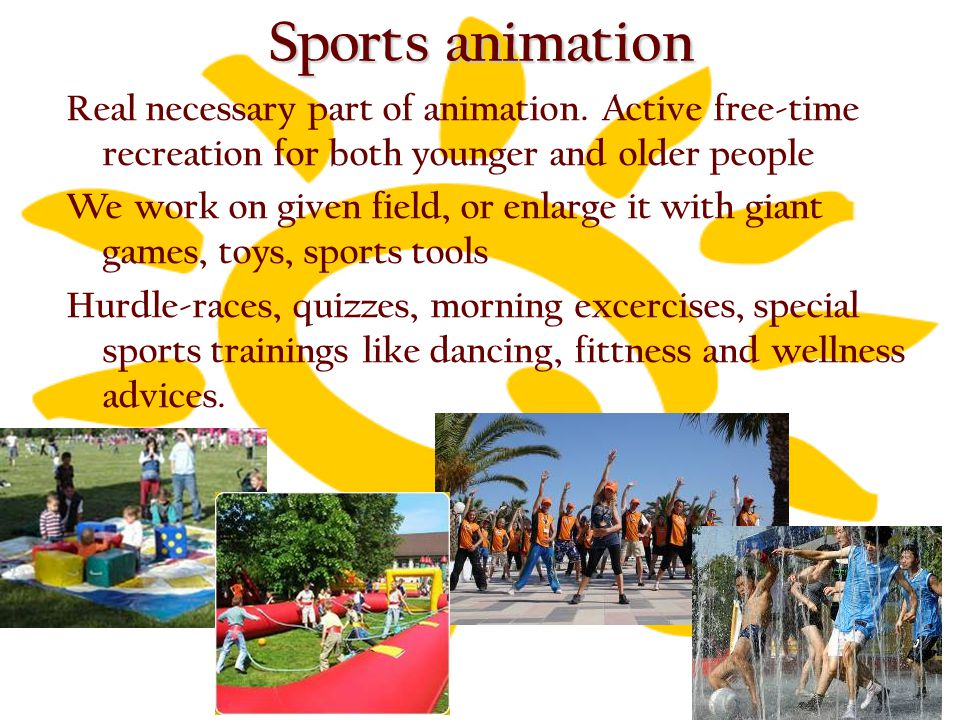 Sports animation Real necessary part of animation.