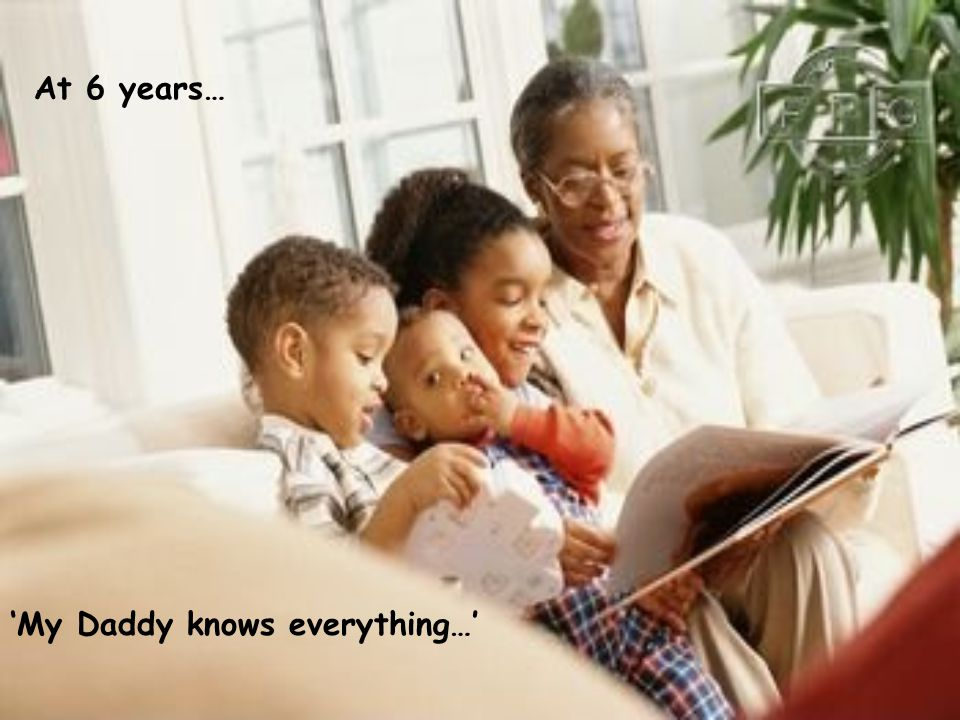 'My Daddy knows everything…' At 6 years…