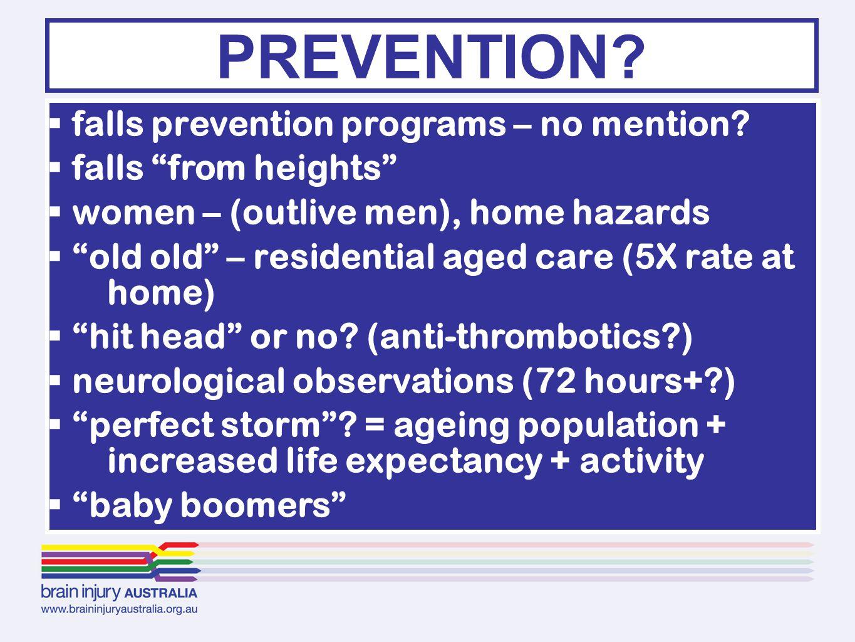  falls prevention programs – no mention.
