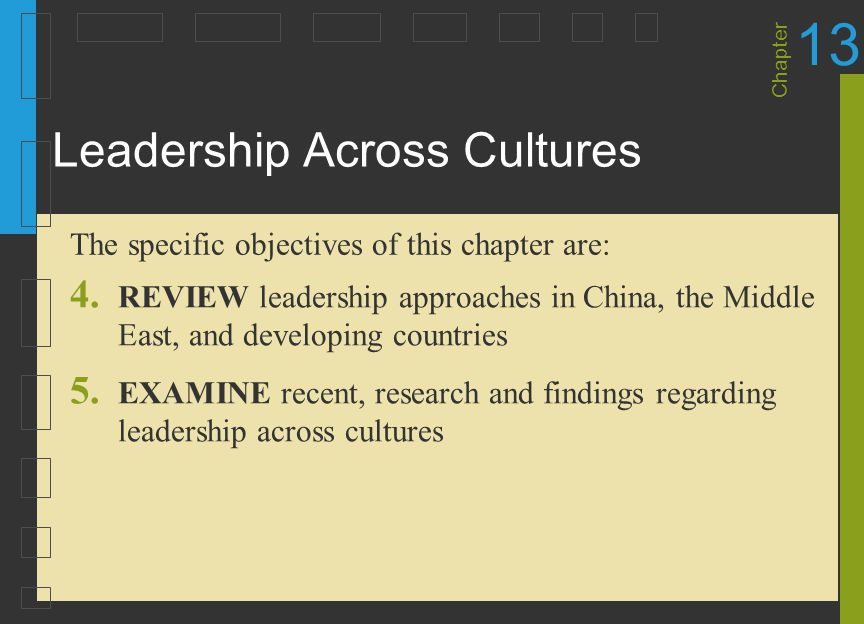43 Recent Findings and Insights About Leadership One of the keys to successful global leadership is knowing what style and behavior works best in a given culture and adapting appropriately In affective cultures, such as the United States, leaders tend to exhibit their emotions In neutral cultures, such as Japan and China, leaders do not tend to show their emotions Leader Behavior, Leader Effectiveness, and Leading Teams