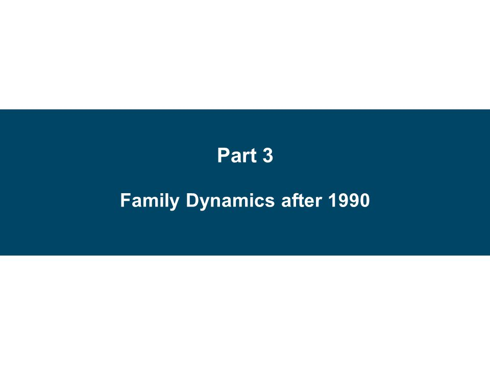 Part 3 Family Dynamics after 1990