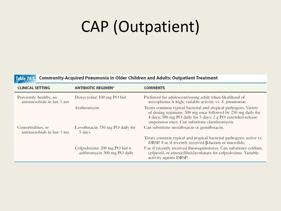 CAP (Outpatient)