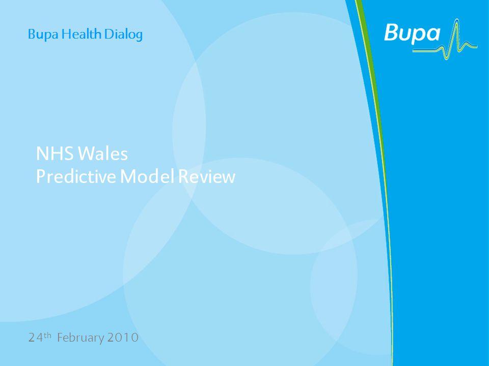 Bupa Health Dialog Agenda Model Development Methodology Model Performance Potential Impact Discussion/Next Steps 2