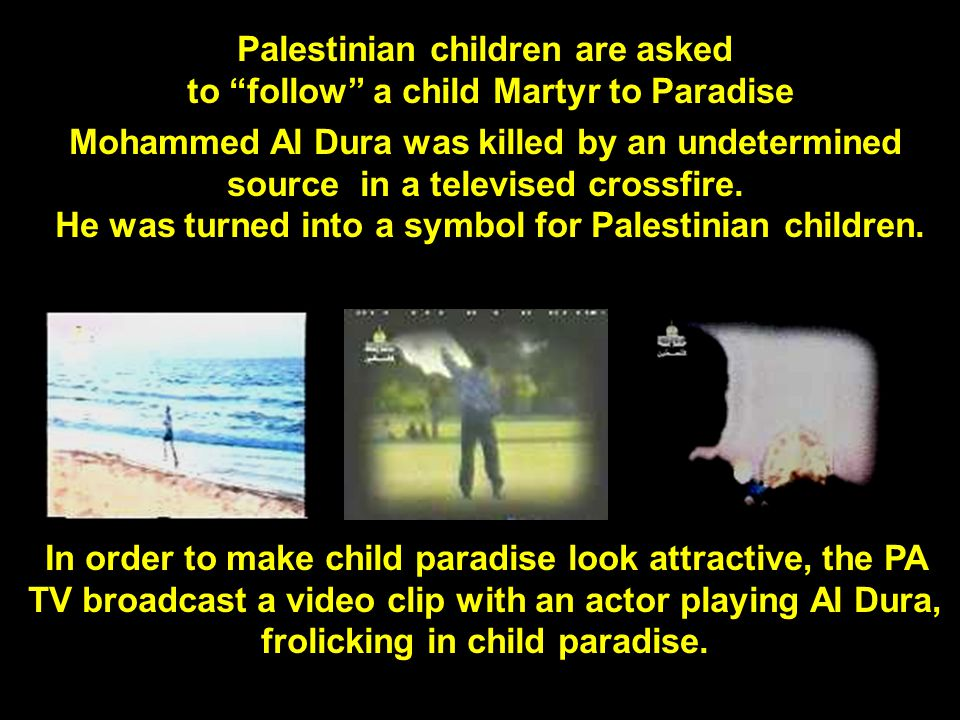 Arafat on PA TV: His message to PA children is that their greatest message in the world is Martyrdom: Question: Mr.