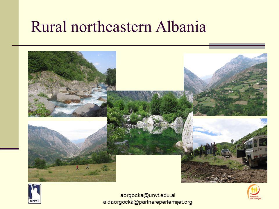 aorgocka@unyt.edu.al aidaorgocka@partnereperfemijet.org Rural northeastern Albania