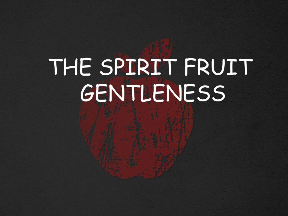 THE SPIRIT FRUIT GENTLENESS