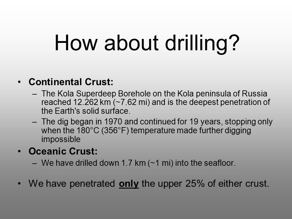 How about drilling.