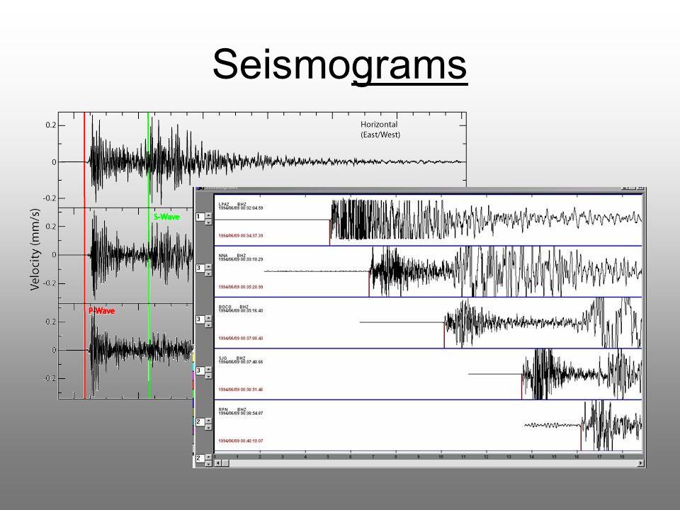 Seismograms