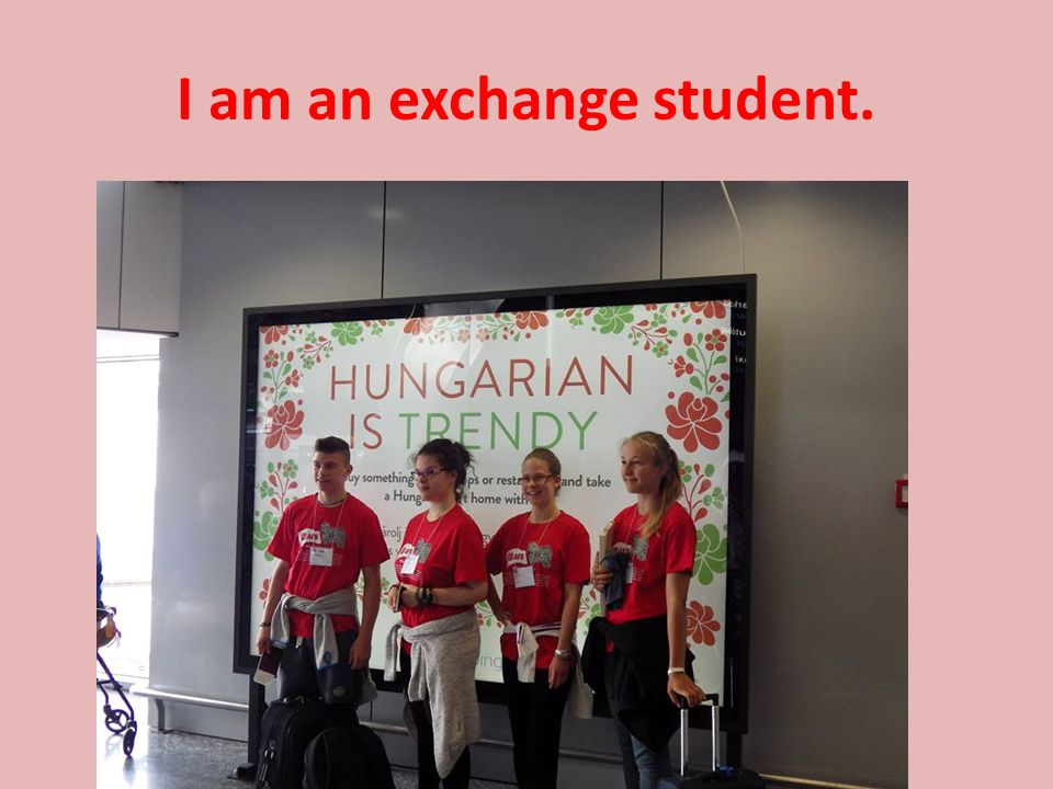 I am an exchange student.