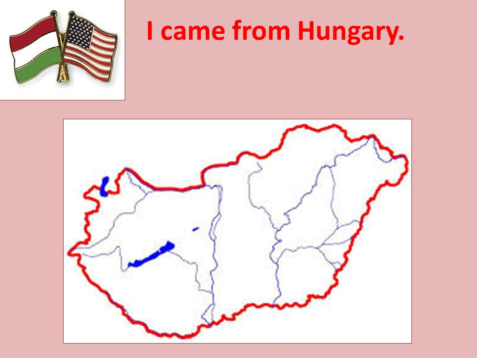 I came from Hungary.