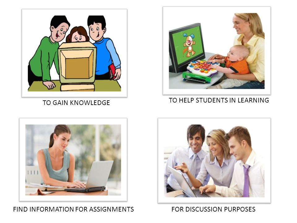 TO GAIN KNOWLEDGE FOR DISCUSSION PURPOSESFIND INFORMATION FOR ASSIGNMENTS TO HELP STUDENTS IN LEARNING