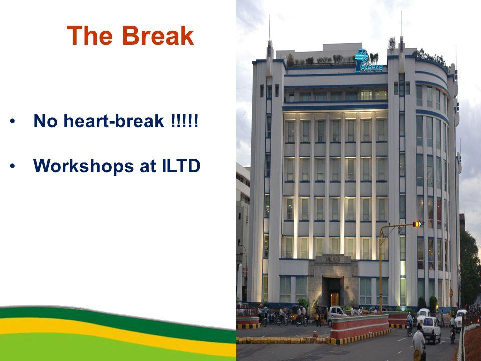 The Break No heart-break !!!!! Workshops at ILTD