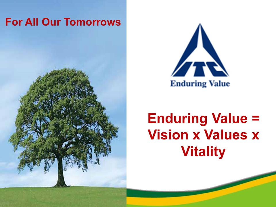 Enduring Value = Vision x Values x Vitality For All Our Tomorrows