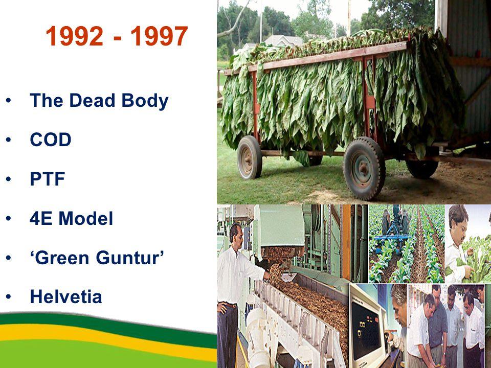 1992 - 1997 The Dead Body COD PTF 4E Model 'Green Guntur' Helvetia