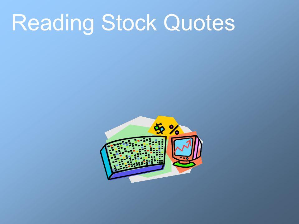 Reading Stock Quotes