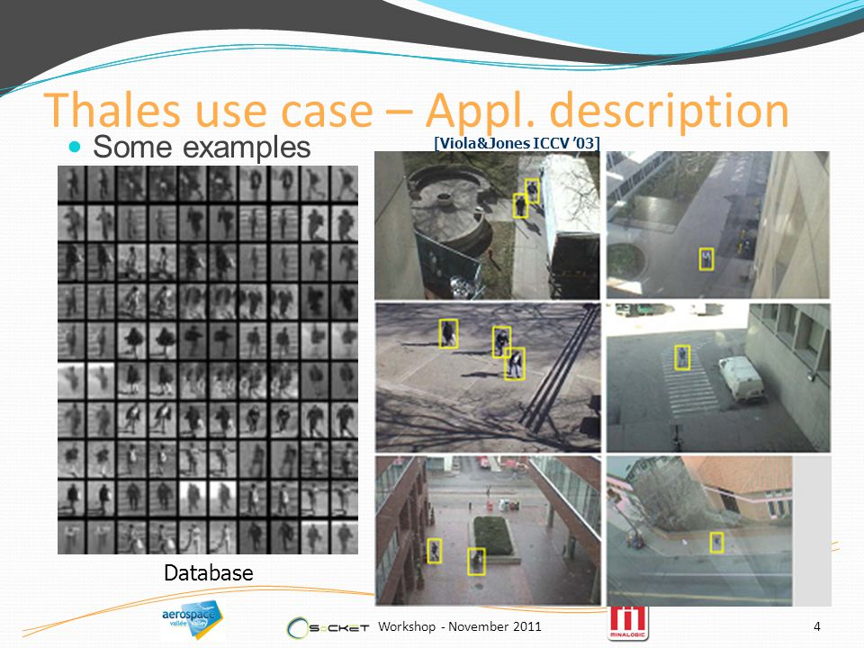 Thales use case – Appl.