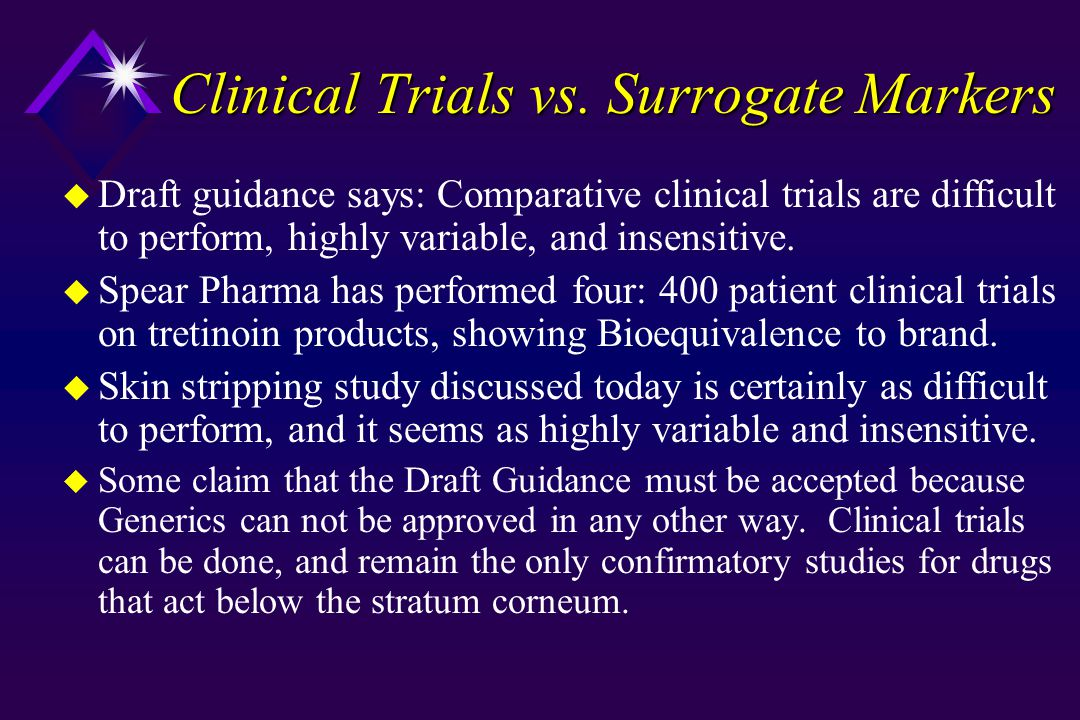 Clinical Trials vs.