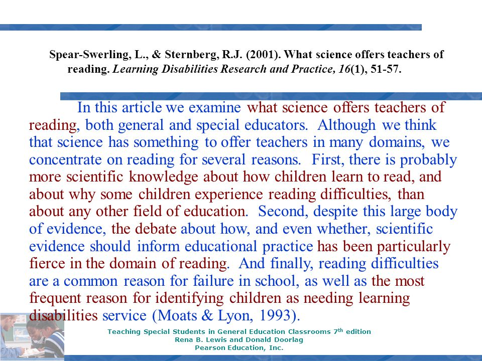 Call up meta.ppt slides Teaching Special Students in General Education Classrooms 7 th edition Rena B.
