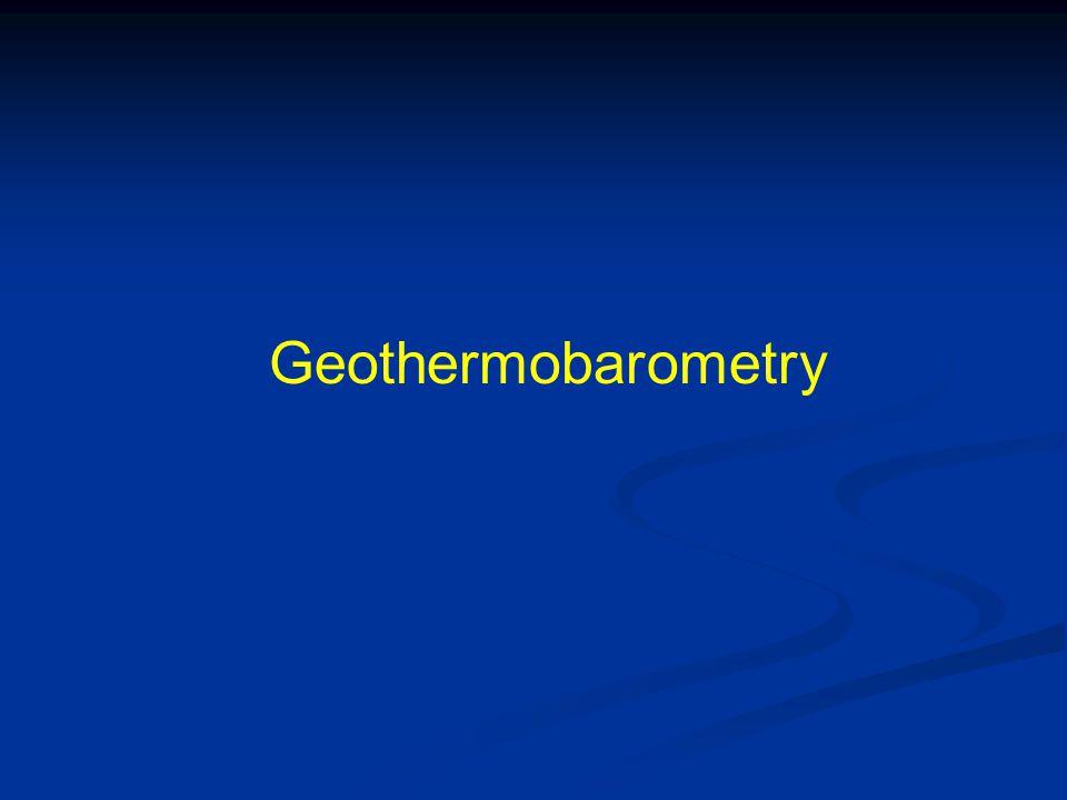 Geothermobarometry