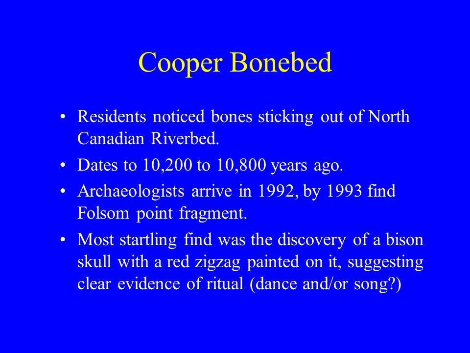 Cooper Bonebed http://www.centerfirstamericans.com/mam moth/issues/vol21_for_12_2008/vol21_num 2.pdfhttp://www.centerfirstamericans.com/mam moth/issues/vol21_for_12_2008/vol21_num 2.pdf