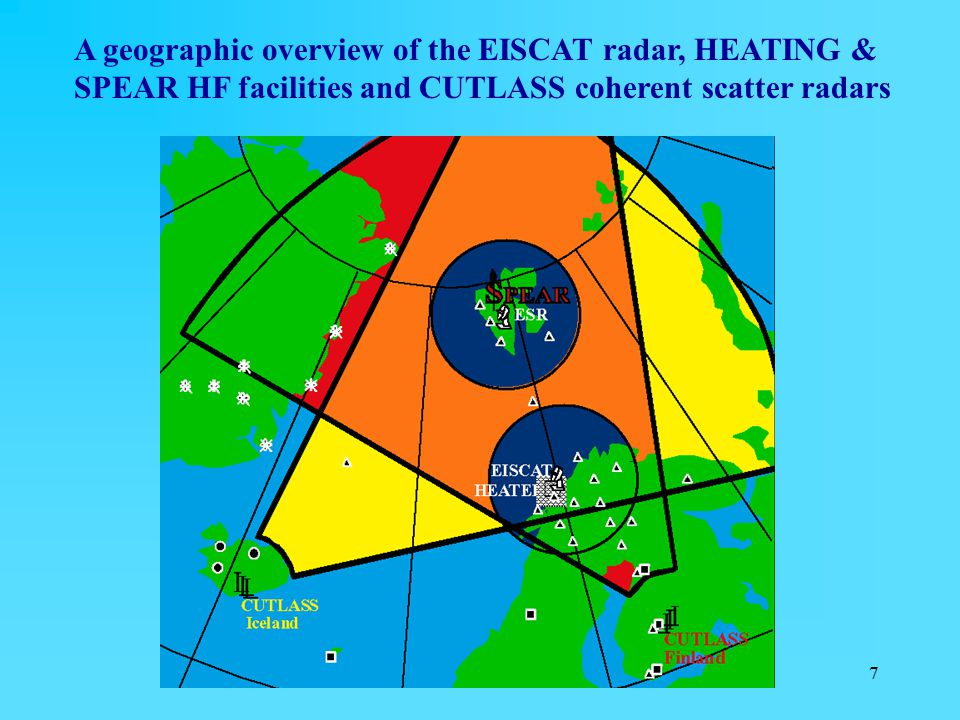 7 A geographic overview of the EISCAT radar, HEATING & SPEAR HF facilities and CUTLASS coherent scatter radars