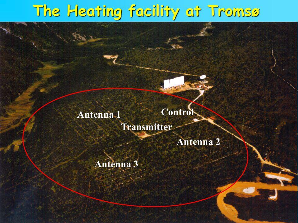 8 Antenna 1 Antenna 2 Antenna 3 Transmitter The Heating facility at Tromsø Control
