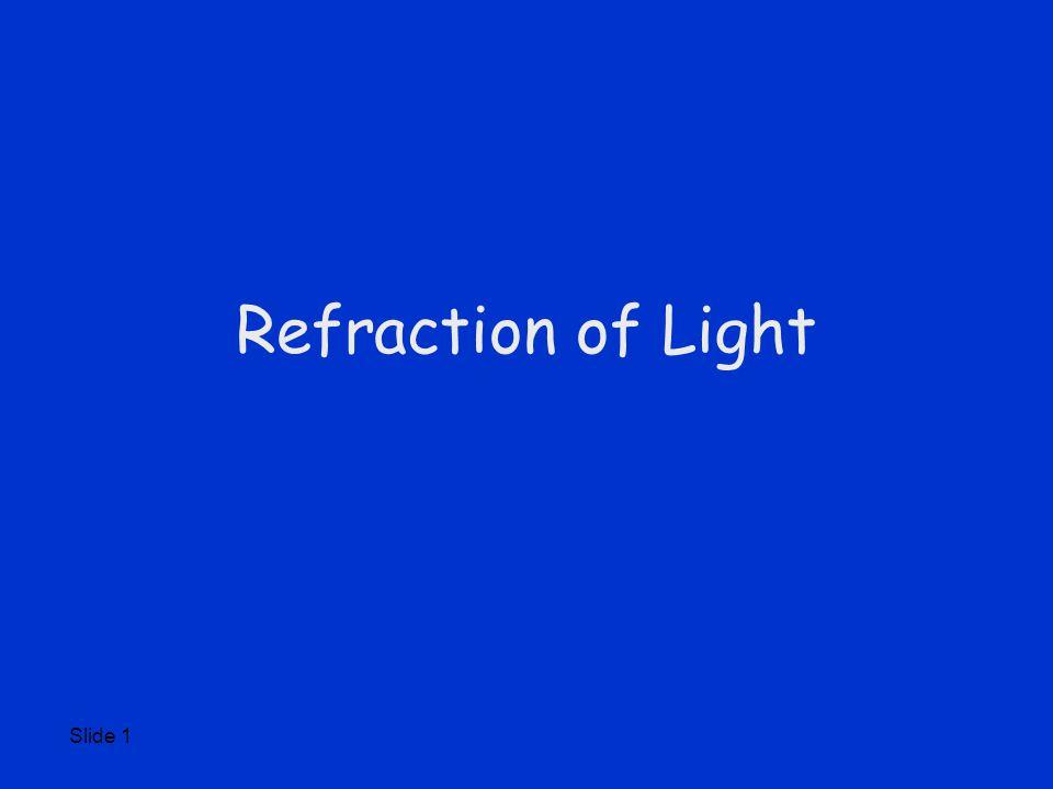 Slide 1 Refraction of Light