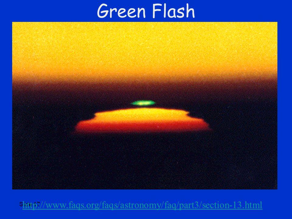 Slide 17 Green Flash http://www.faqs.org/faqs/astronomy/faq/part3/section-13.html