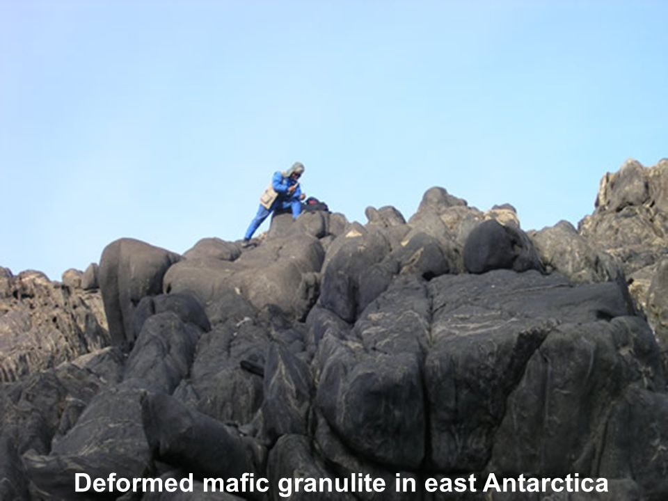 Deformed mafic granulite in east Antarctica