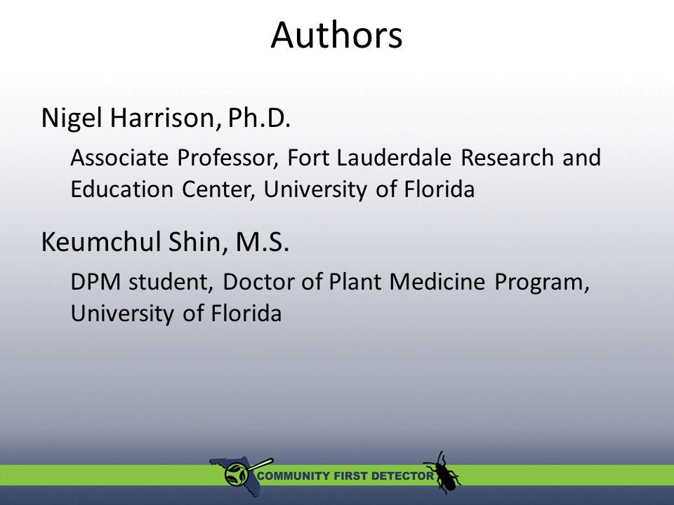 Authors Nigel Harrison, Ph.D.