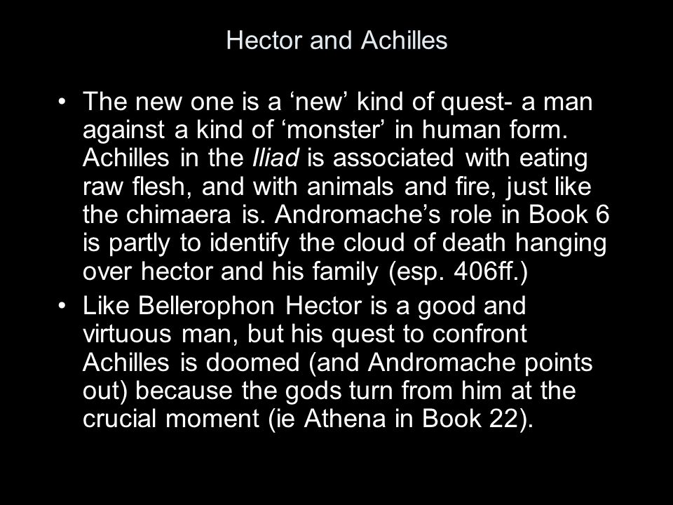 Does the story of Bellerophon's quest anticipate Hector's quest against Achilles.