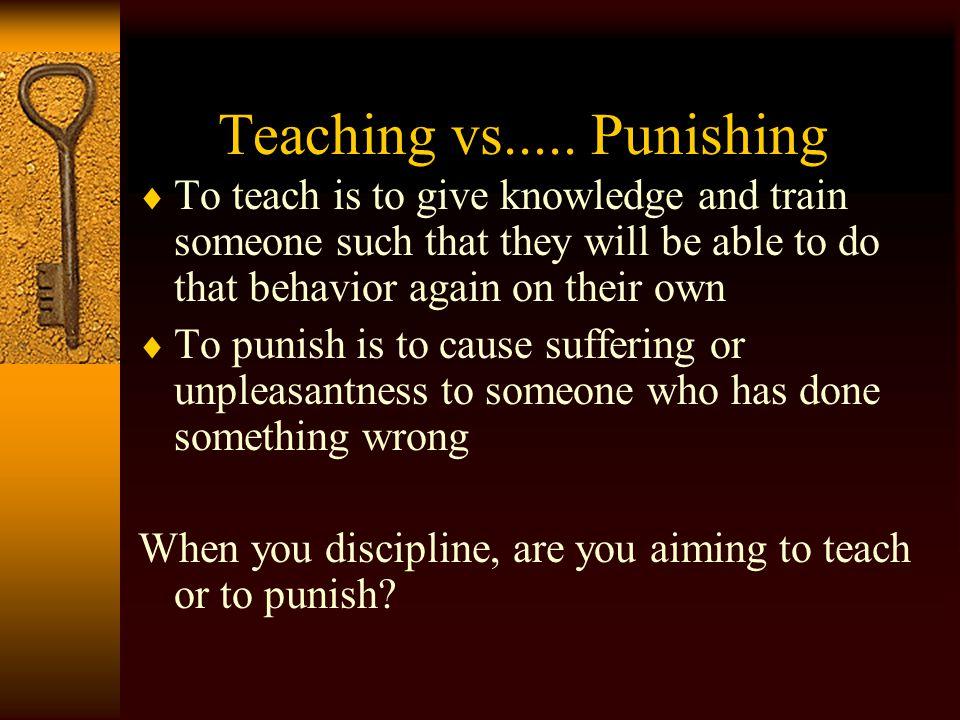 Teaching vs.....