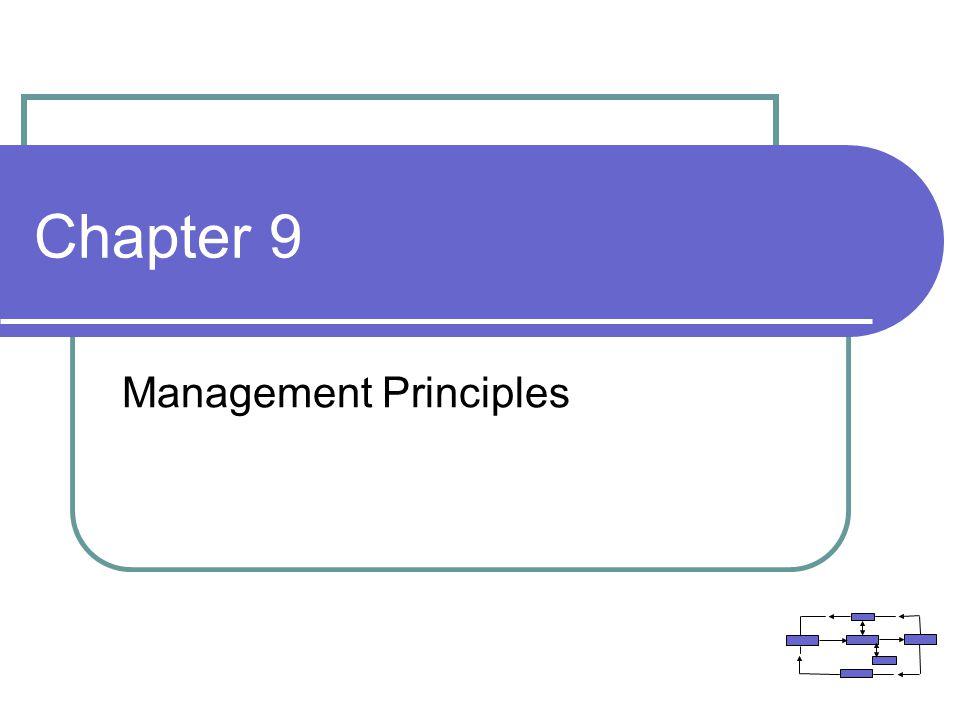 Chapter 9 Management Principles