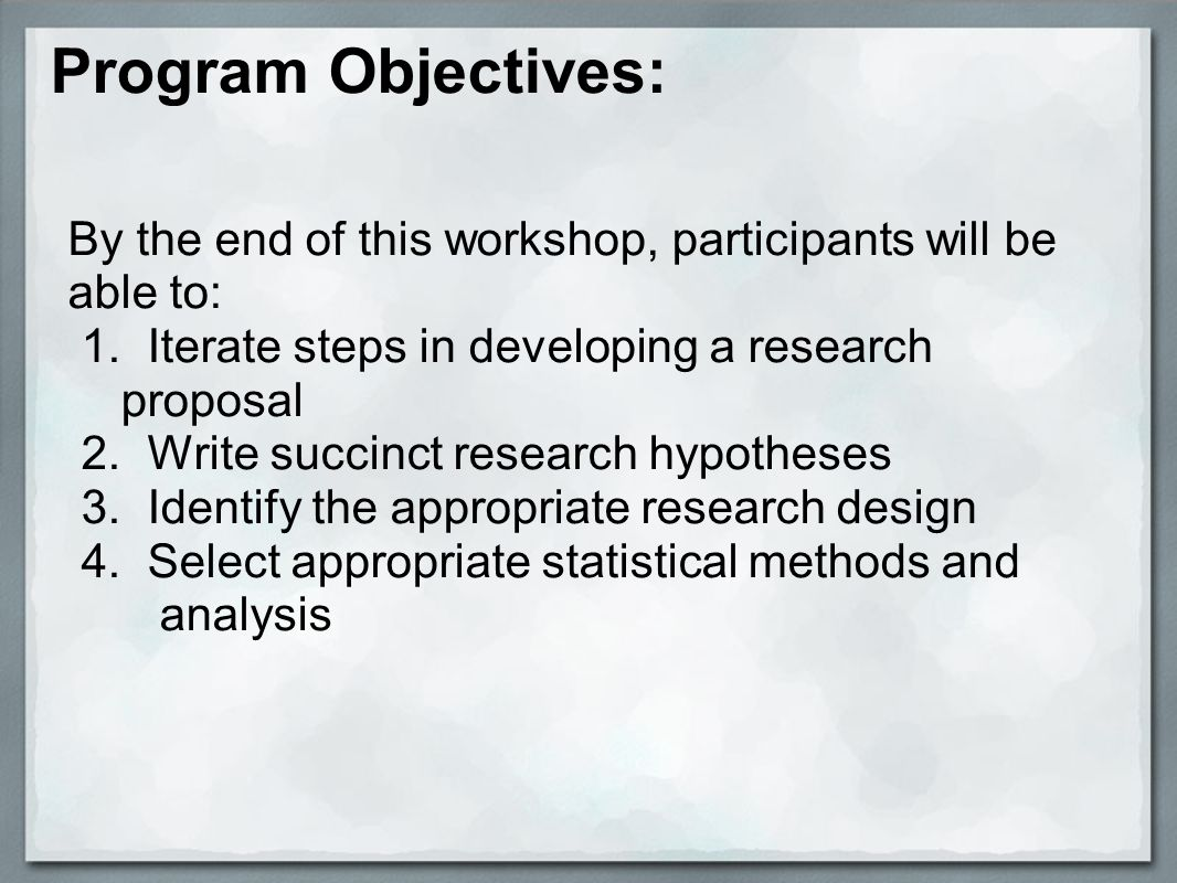 Steps to Develop a Research Proposal