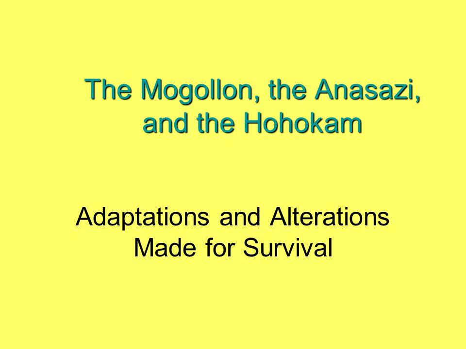 The Mogollon, the Anasazi, and the Hohokam Adaptations and Alterations Made for Survival