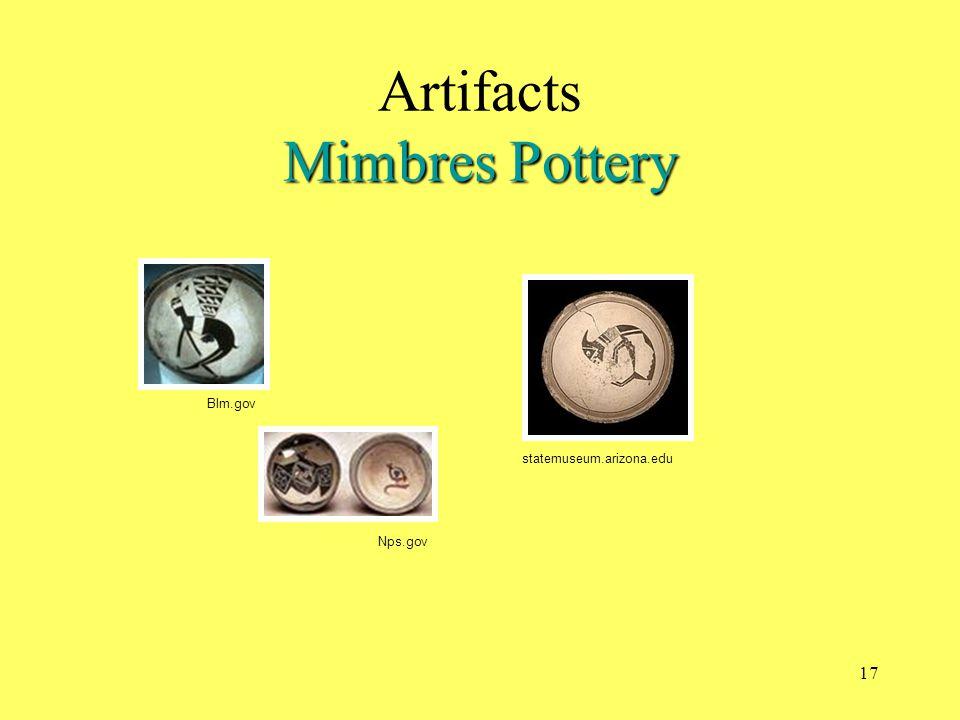 statemuseum.arizona.edu Mimbres Pottery Artifacts Mimbres Pottery Blm.gov Nps.gov 17