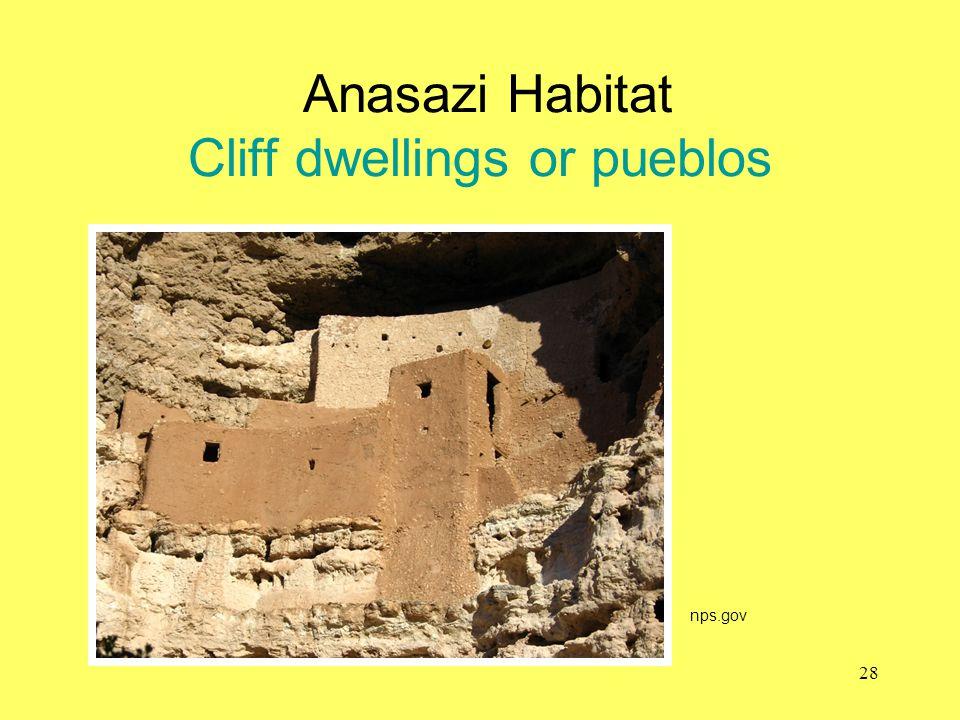 Anasazi Habitat Cliff dwellings or pueblos nps.gov 28
